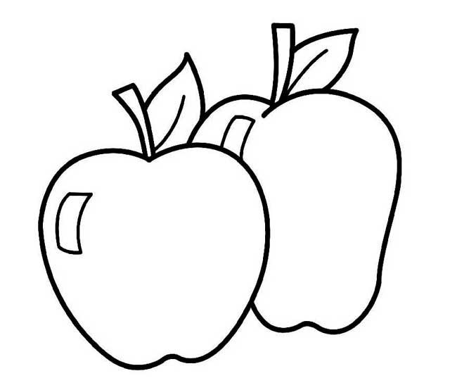 Dibujo de manzanas para colorear