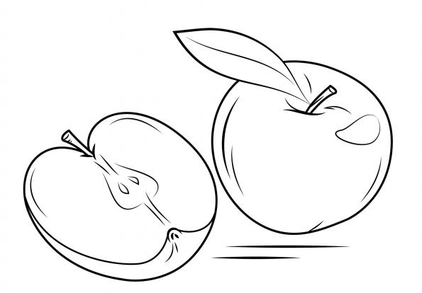 Dibujo de Manzanas partidas