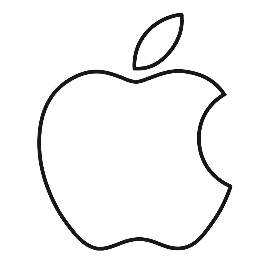manzana mordida colorear