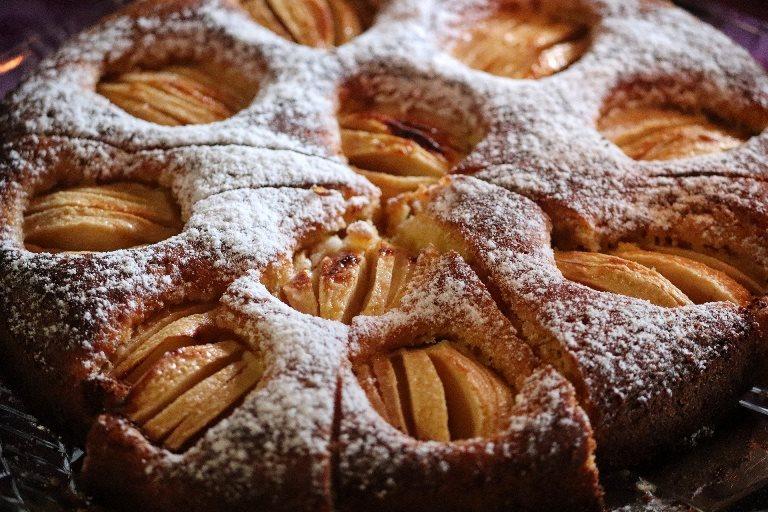Receta de Torta invertida de manzanas
