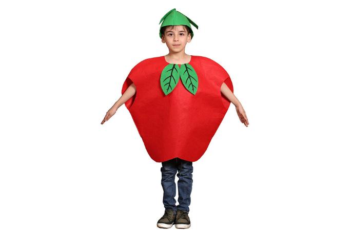 Disfraz de manzanas niña