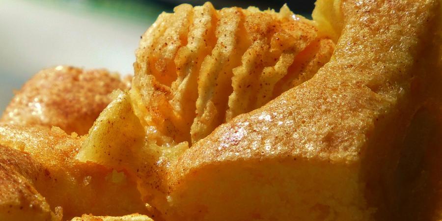 Delicioso pan de manzanas casero